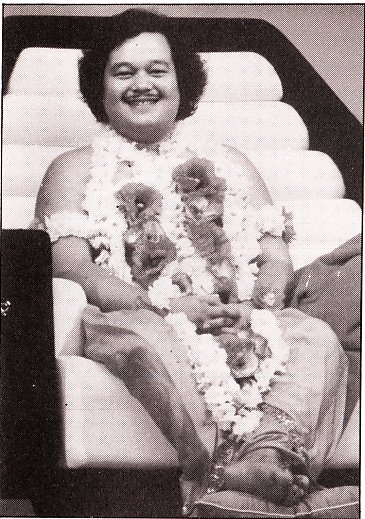Prem Rawat (Maharaji) Dressed As Krishna On Throne 1979