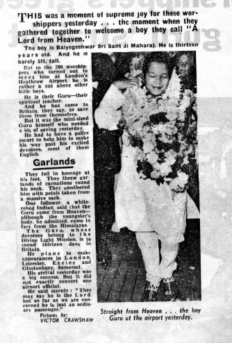 Prem Rawat Arrives In London 1971