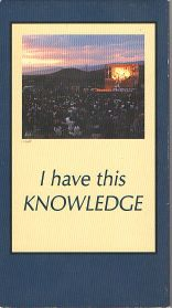 I Have This Knowledge Video Front Cover